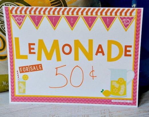 11 Secrets to a Rockin' Lemonade Stand for Kids + Free Lemonade Stand Printables