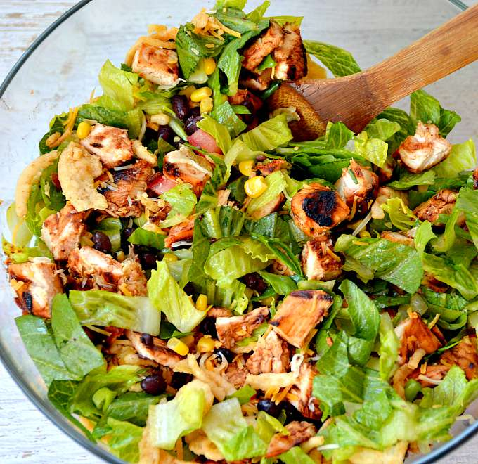 BBQ Chopped Chicken Salad Recipe