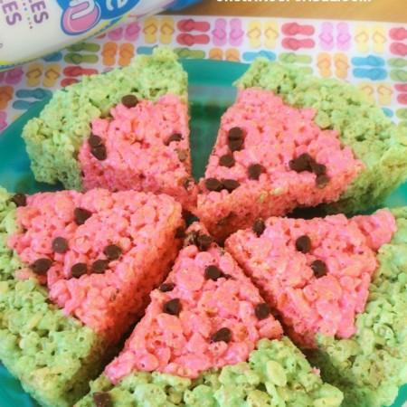 Easy Watermelon Rice Krispies Treats