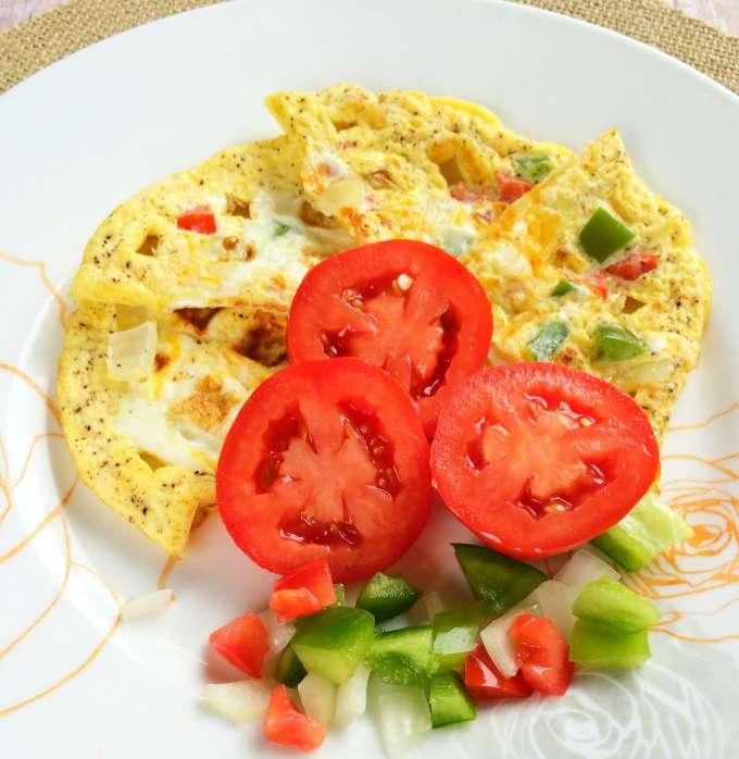 Waffle Omelet Recipe