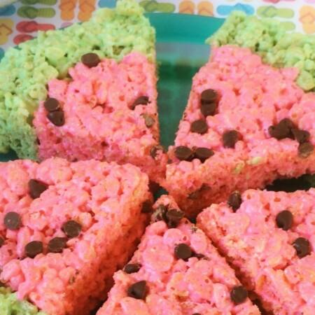 Turn a classic Rice Krispie treat recipe into a watermelon for summer fun