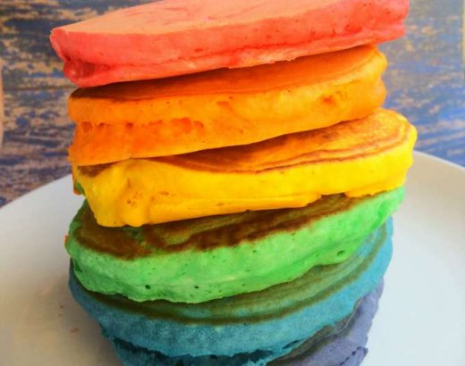 Rainbow Pancakes for Kids