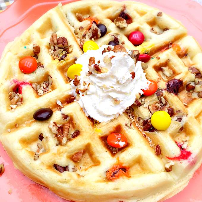 Candy and Pecan Waffle Recipe
