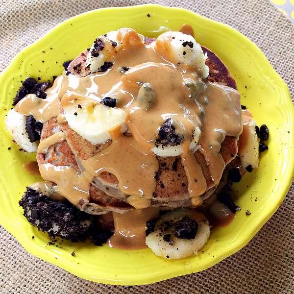 Oreo Peanut Butter Pancakes