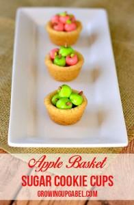 Apple Basket Sugar Cookies