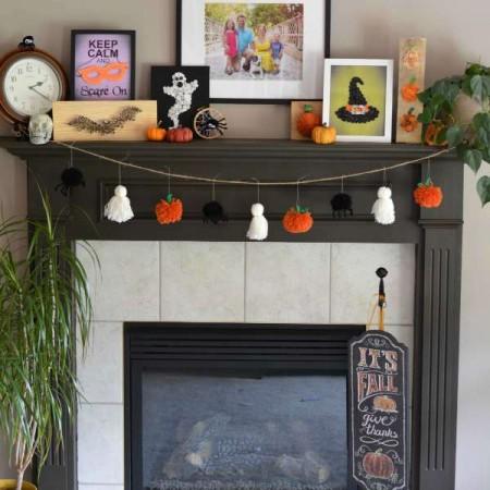 Cute Halloween Mantle