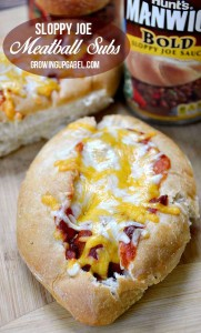 Easy Sloppy Joe Meatball Subs