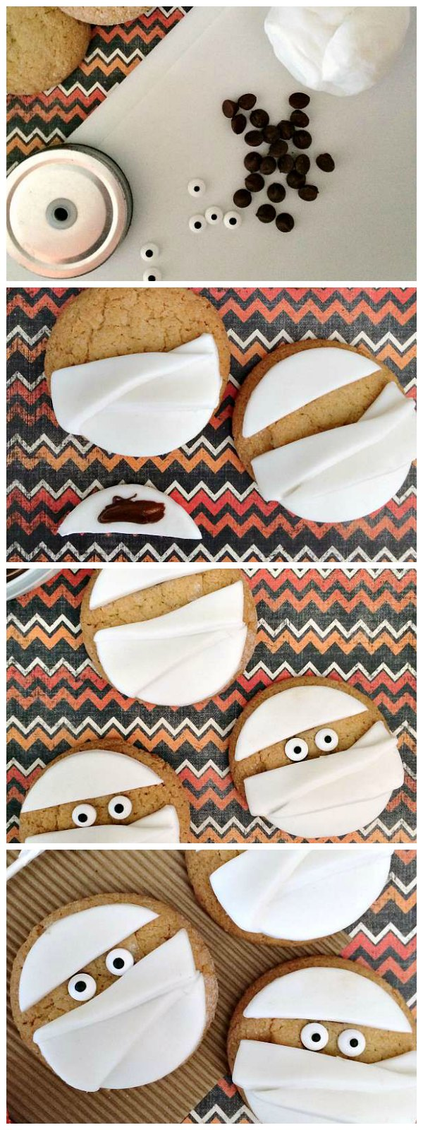 Mummy Cookies Tutorial