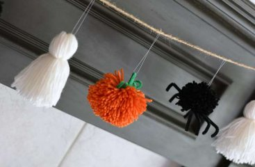 Pumpkins and Ghosts and Spiders! Oh My! Halloween Garland