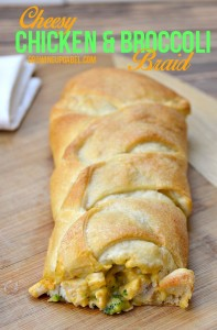 Cheesy Broccoli Chicken Braid