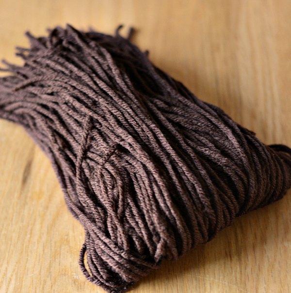 Brown Yarn Pom Pom