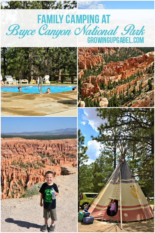 Looking for a fun family camping trip? Head to Bryce Canyon National Park! Sleep in a tee pee, take a family hike, and relax by the pool.