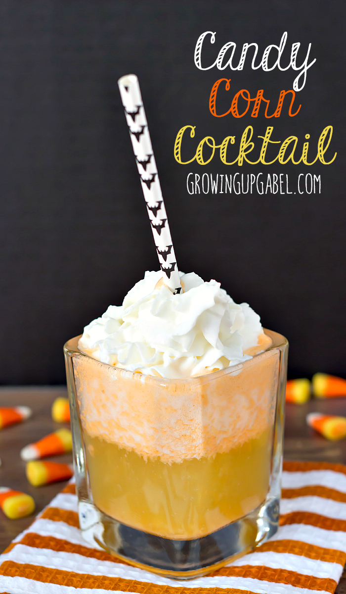 Candy Corn Cocktails are part cocktail, part dessert. They're delicious and a great festive drink for Halloween!