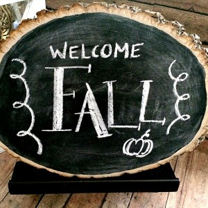 Rustic Wood Slice Chalkboard Craft