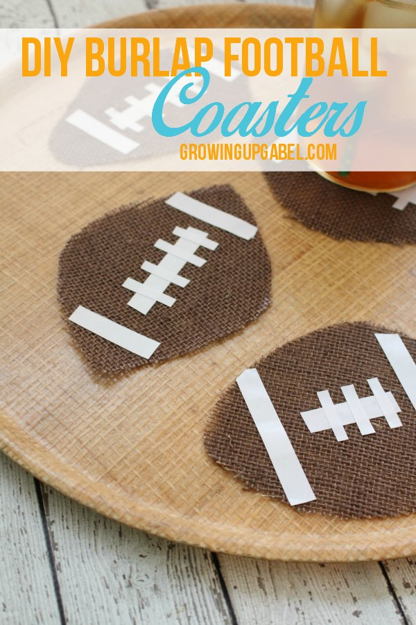 DIY Football Burlap Coasters are an easy no sew project for football season!