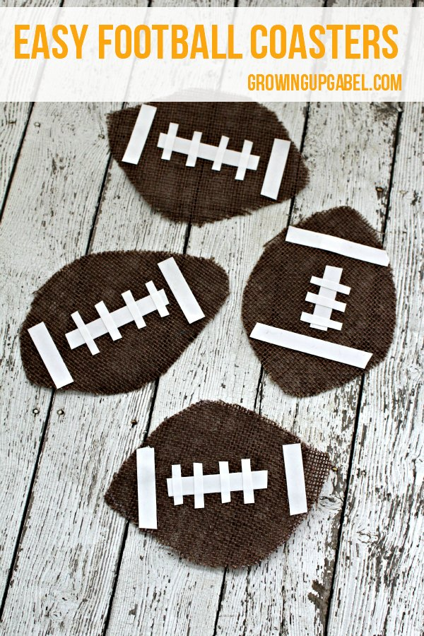 DIY Football Coasters are a fun and easy no sew craft for football season!