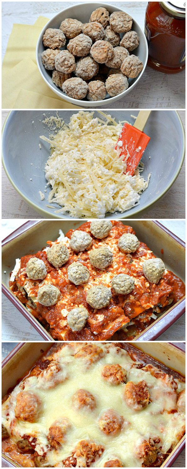 Need an easy dinner idea? Use frozen meatballs to make lasagna in just about 30 minutes!
