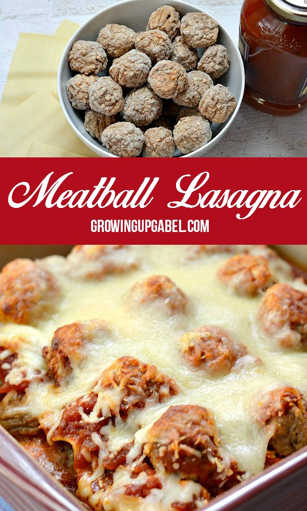 Frozen meatballs are the trick to getting this easy lasagna recipe on the dinner table in just over 30 minutes!