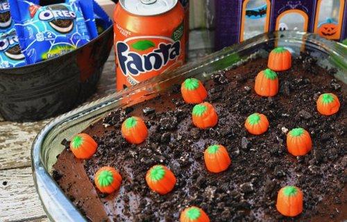 Pumpkin Patch Orange Poke Cake Recipe