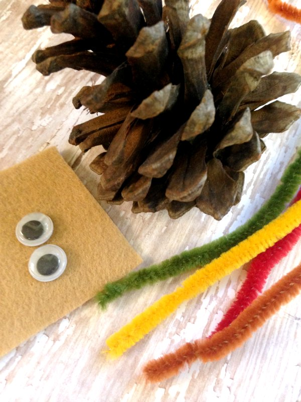 Pine Cone Turkey Craft for Kids