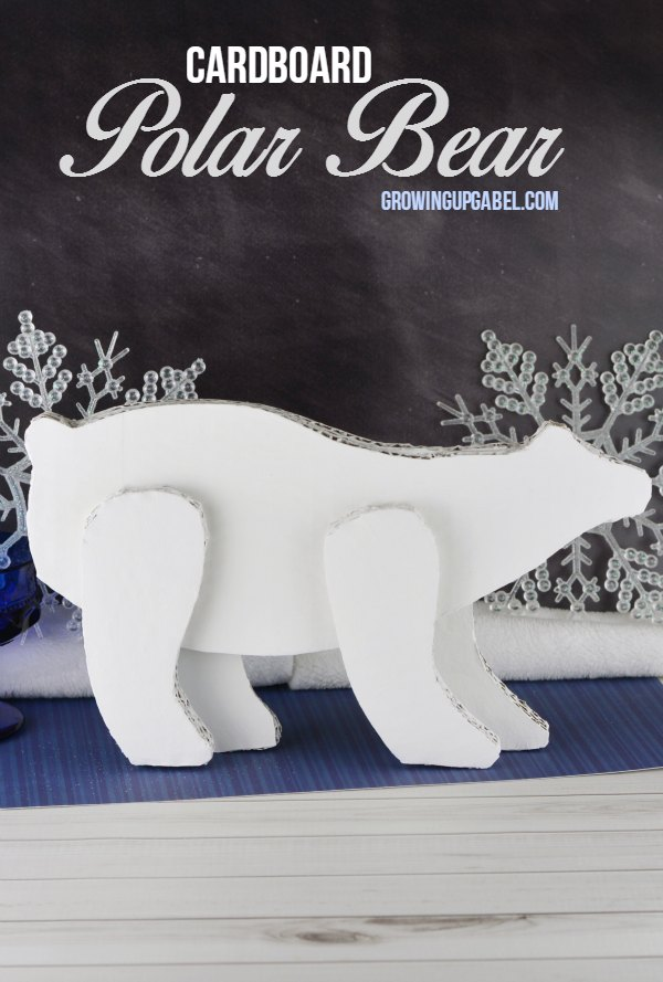 Fill the void when the Christmas decorations come down with this adorable polar bear craft! Made with just cardboard, paint, and glue, this easy craft will make your home festive all winter long.