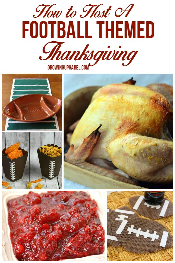 Host a fun football themed Thanksgiving with these decorations and recipes!