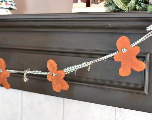 Easy Christmas Garland with Cinnamon Dough Christmas Ornaments