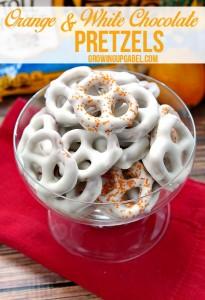 Orange White Chocolate Covered Pretzels Recipe