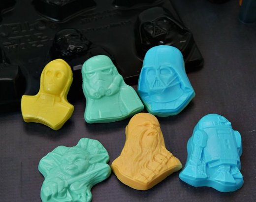 Homemade Star Wars Soap