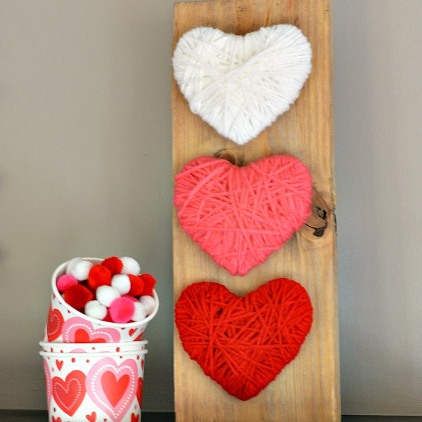 Yarn Wrapped Heart Craft