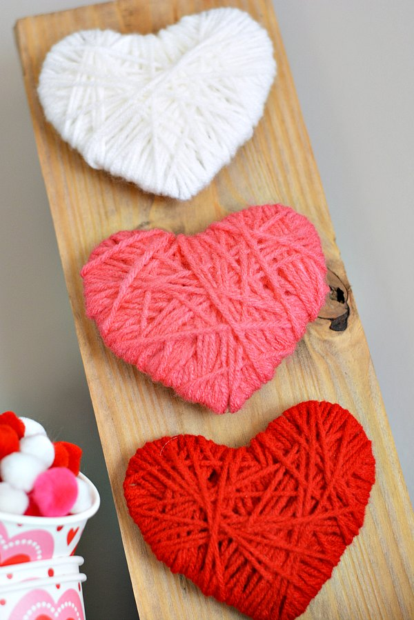 Yarn Wrapped Heart Pallet