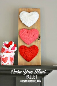 Ombre Yarn Heart Wood Pallet Craft