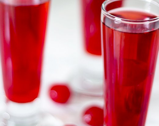Valentine's Day Cherry Vodka Cocktail and Shooter