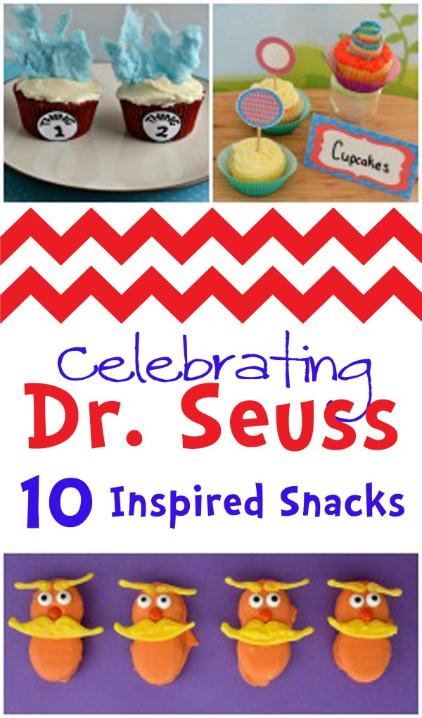 Celebrate Dr. Seuss with these 10 cute and fun recipes! From dessert to snacks - your kids will love them all!