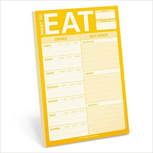 Eat Menu Planner Pad