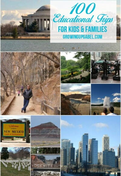 Planning family vacation? Check out this list of 100 educational trips for kids! Find something educational on your family vacation this year.