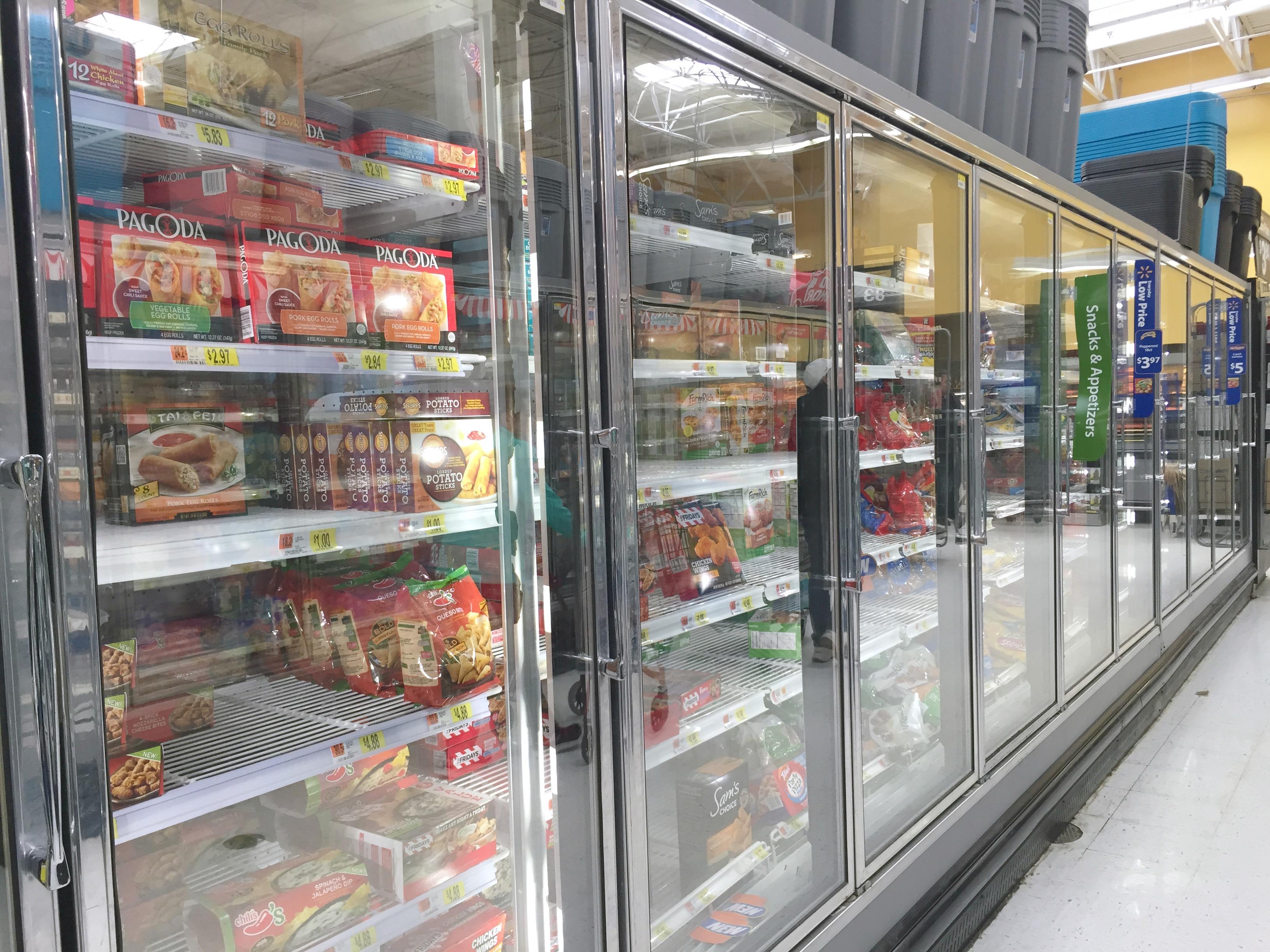 Walmart freezer aisle