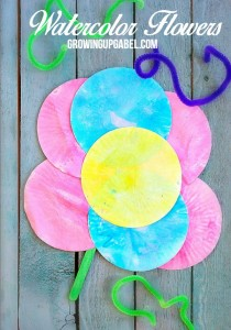 Paper Watercolor Flowers Craft for Kids