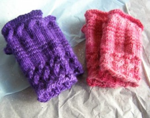 Off My Needles: Knitted Fingerless Mittens