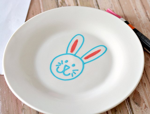 Bunny Easter Plate