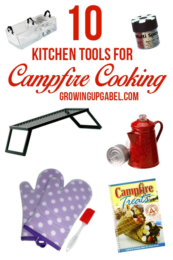 Do you love campfire cooking? Check out these top 10 must have camp kitchen tools that make cooking for a campfire fun and easy!