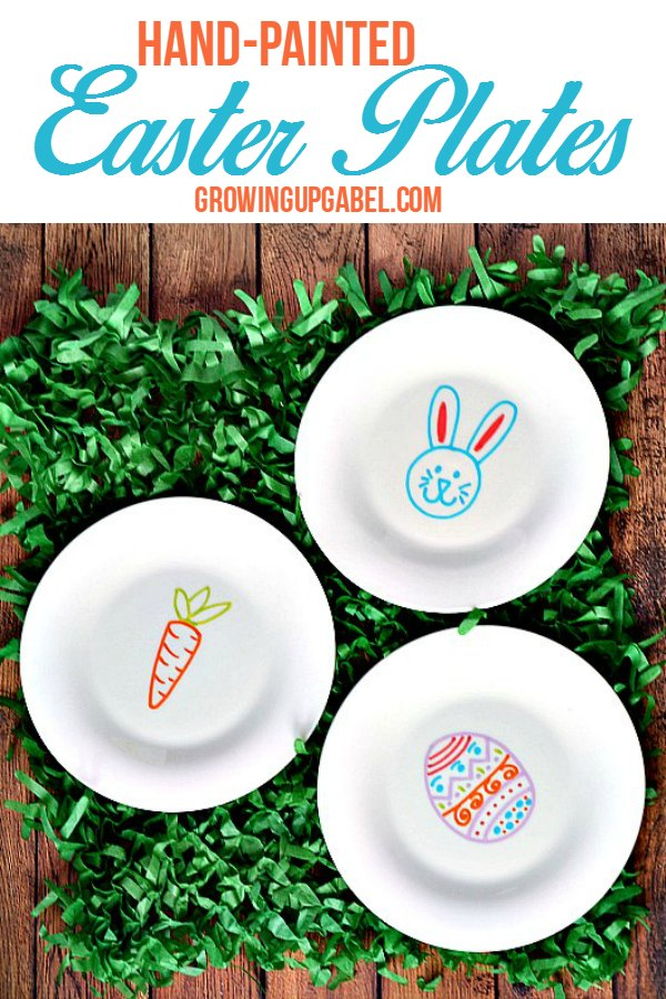 Hand-Painted Easter Plates  sc 1 st  Growing Up Gabel & Easter Plates Made with Paint Markers