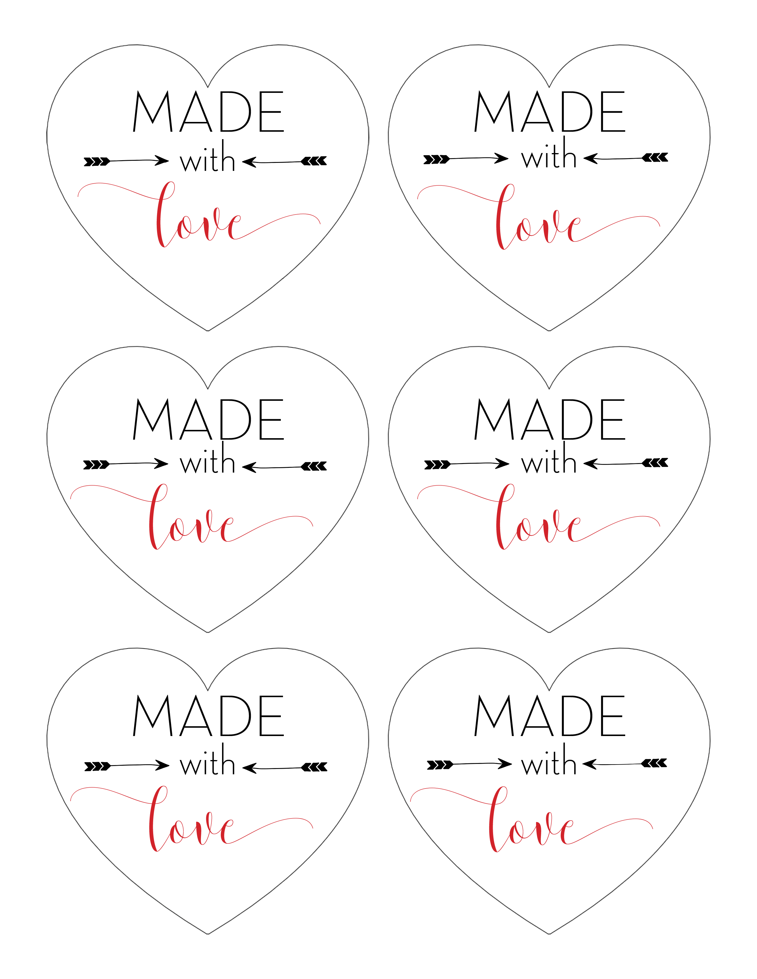 Made with love printable tags for homemade gifts want to give away homemade gifts but not sure what check out these ideas negle Choice Image