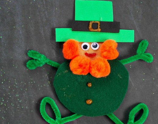 Easy Leprechaun Felt Craft