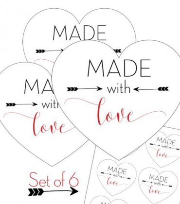 """Made with Love"" Printable Tags for Homemade Gifts"