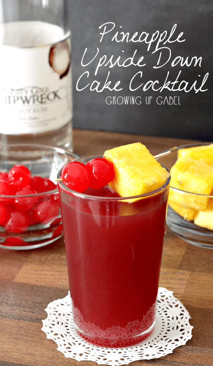 Pineapple Upside Down Cake Vodka Cocktail Recipe