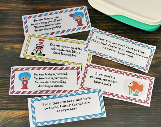 Dr. Seuss Lunchbox Notes for Kids