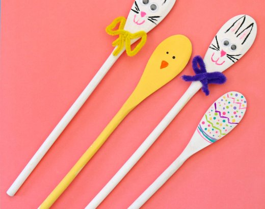 Easter Painted Wooden Spoons