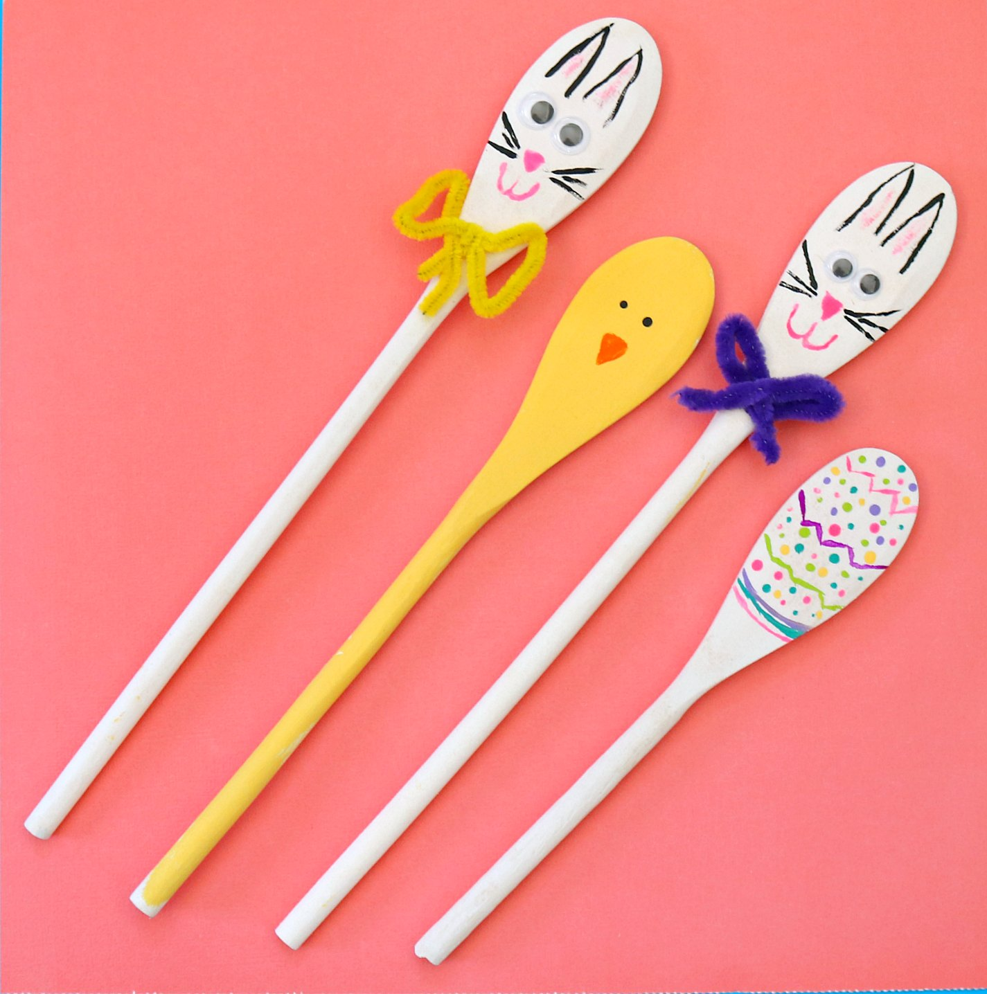 Easter painted wooden spoons - Cheap wooden spoons for craft ...
