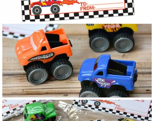 Monster Truck Boys Valentines: Free Printable!